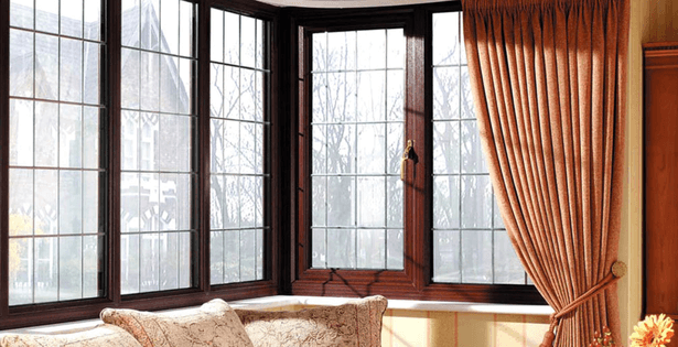 a bay window with double glazing