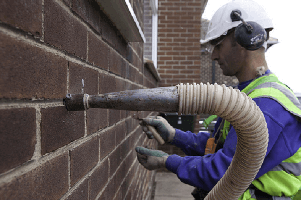 installing cavity wall insulation