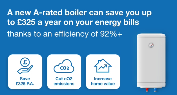 a diagram showing how a new boiler can save you money