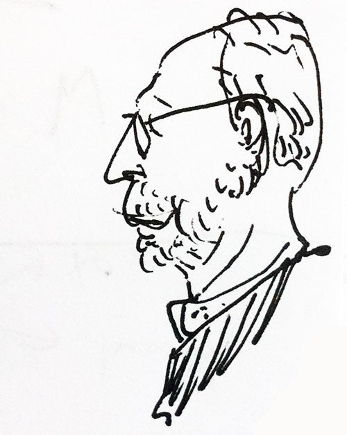A drawing of Paul Bright