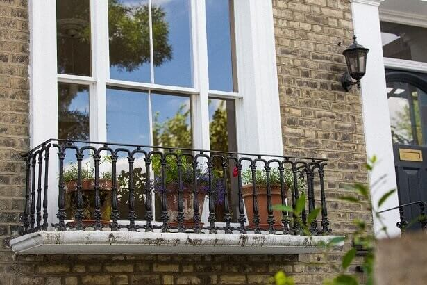 Secondary glazing on a sash window