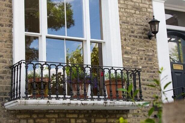 Secondary glazing on a sash window