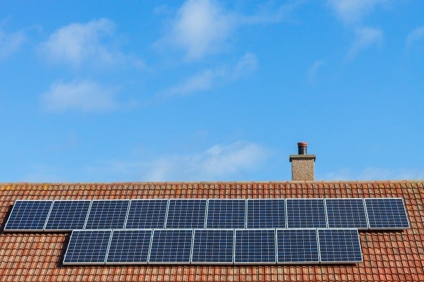 solar panels on a roof in scotland