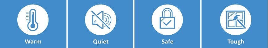 triple glazing benefits icons