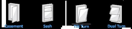 Popular types of windows