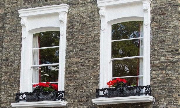 wooden sash windows