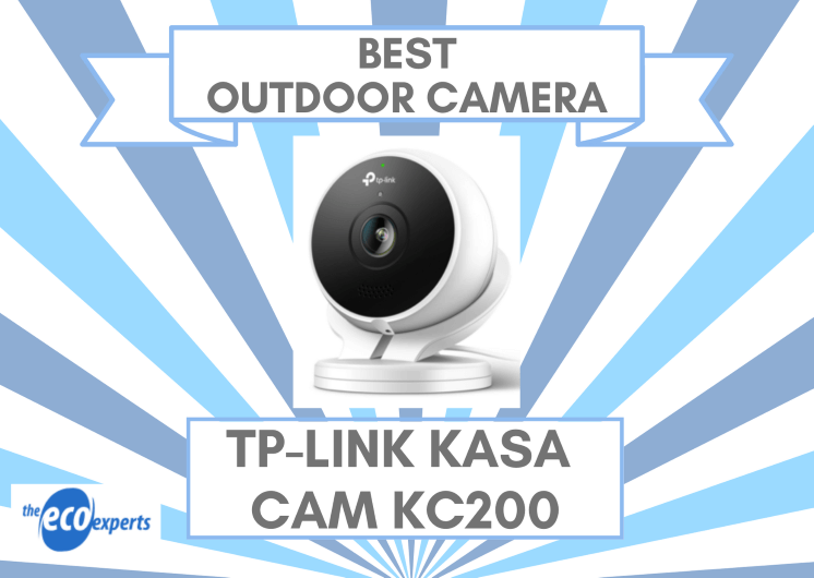 The best home smart camera for outdoor, the TP-Link Kasa Cam Outdoor KC200