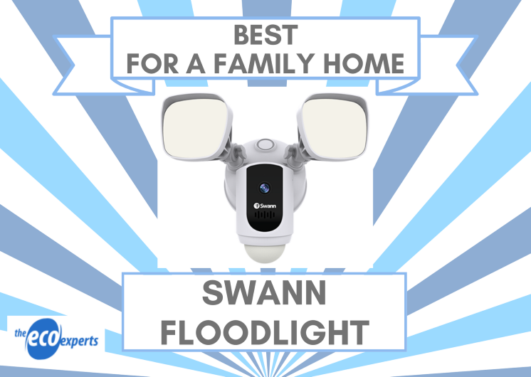 The best smart camera for a family home, the Swann Floodlight