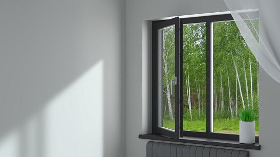 Aluminium window opening