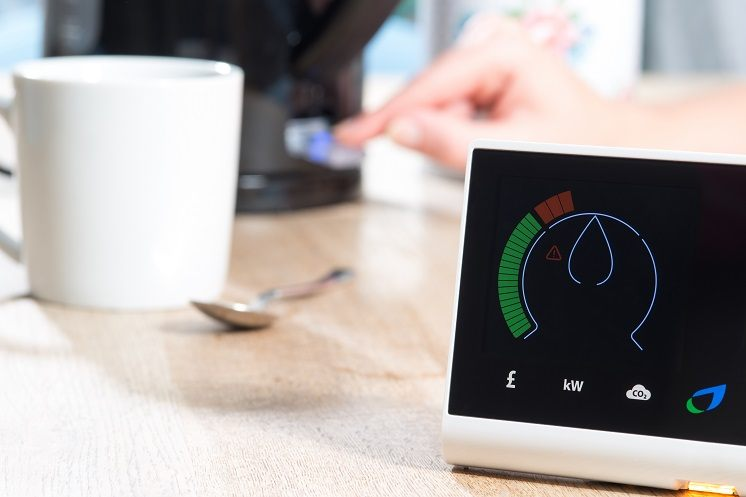 smart meter on a kitchen table
