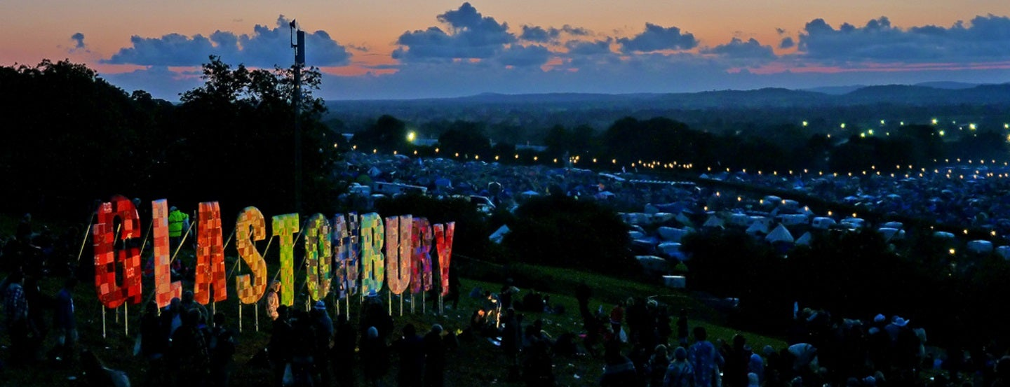 An overview of Glastonbury Festival, which has a negative carbon footprint