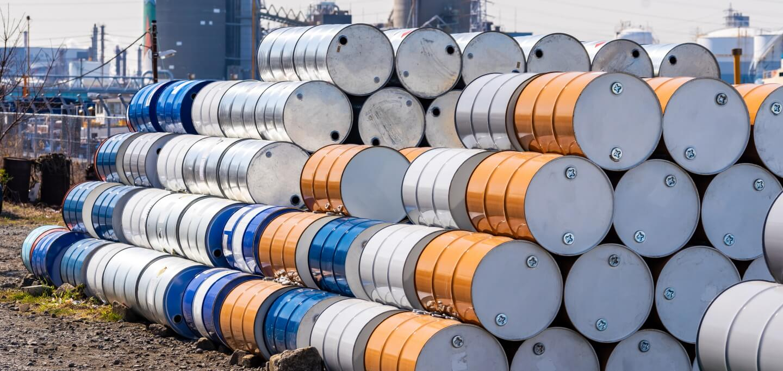 oil barrels left in the sun