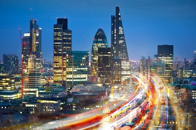 a view of London traffic