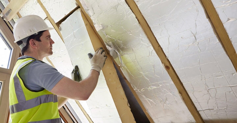 a man installing attic installation