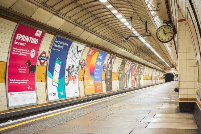 a london underground platform