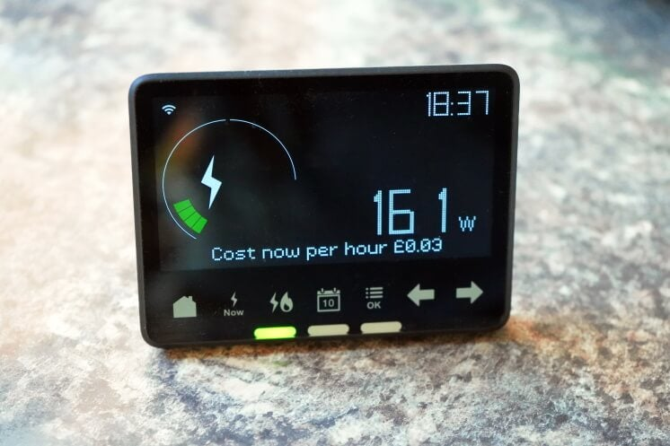 a smart meter on a table