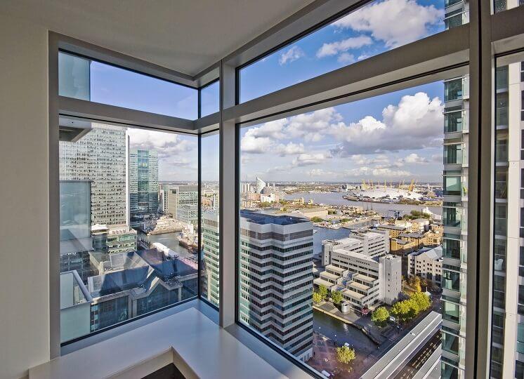a view through aluminium windows