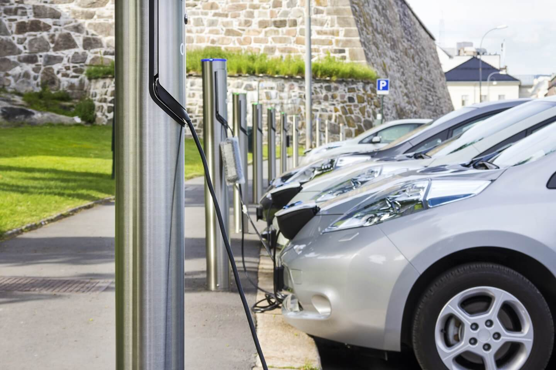 EV cars charging