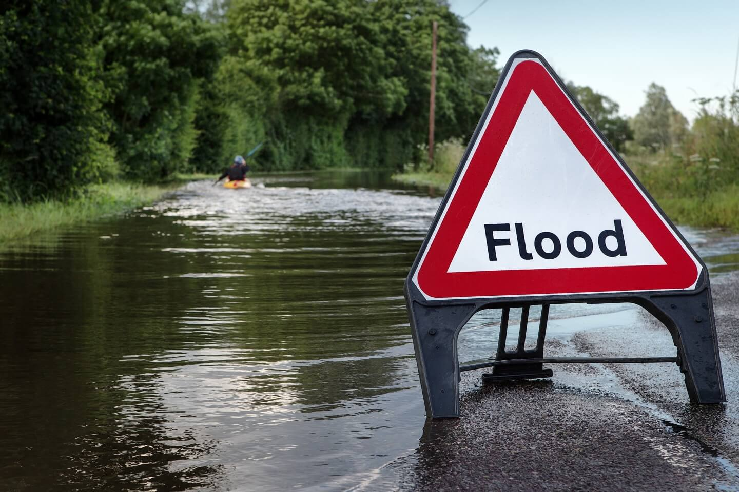 flood sign in the uk