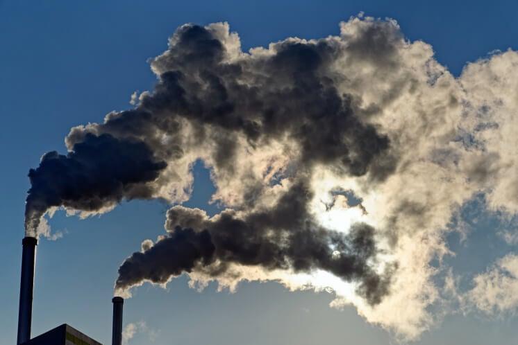 smoke of Incinerator chimneys