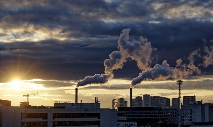 incinerator spewing emissions