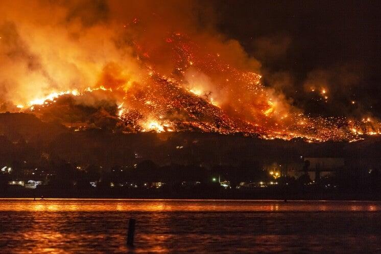 wildfire burns in california