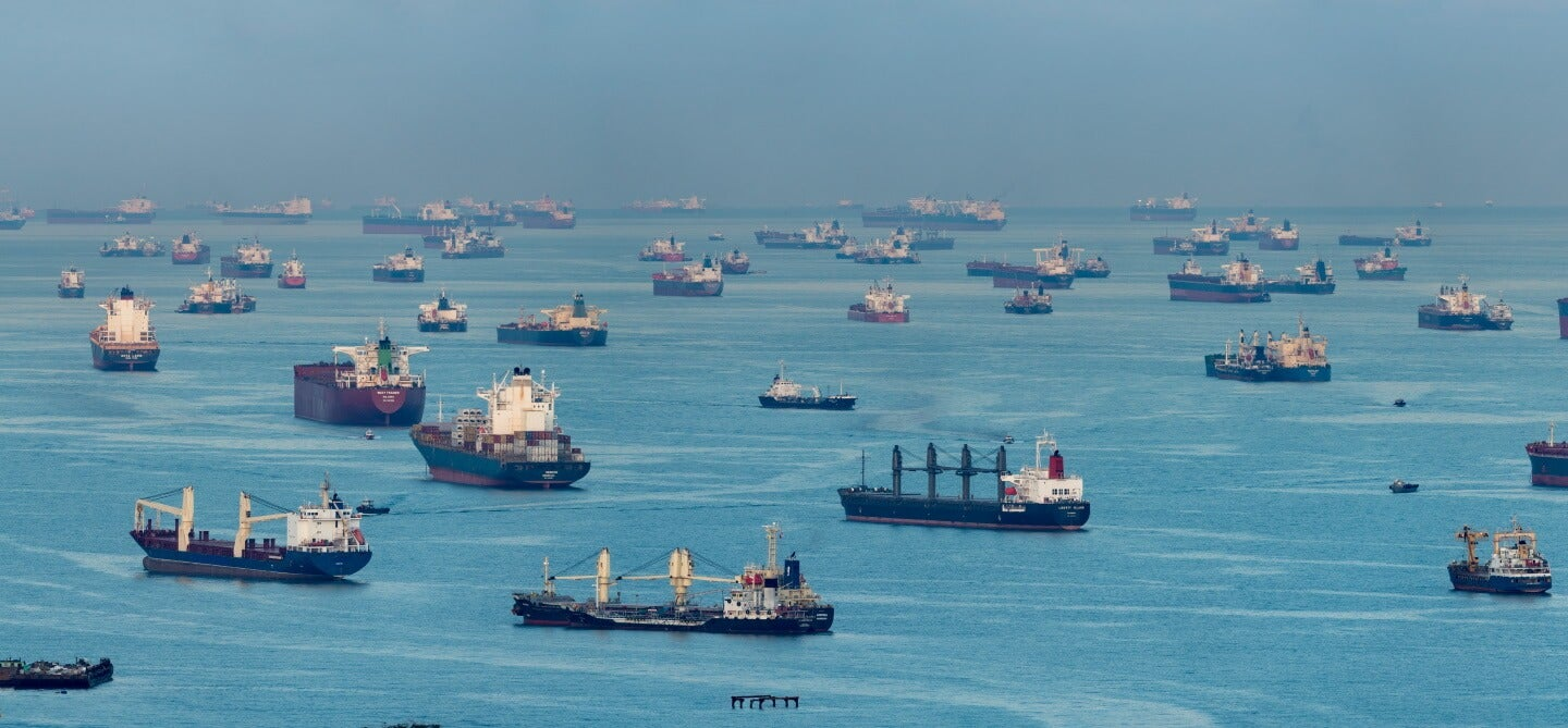 container ships on the water