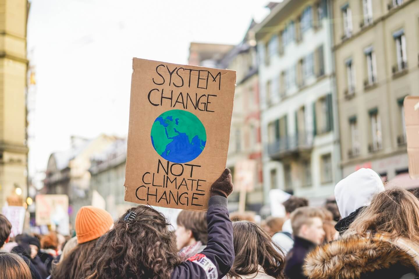 Sign at a climate protest