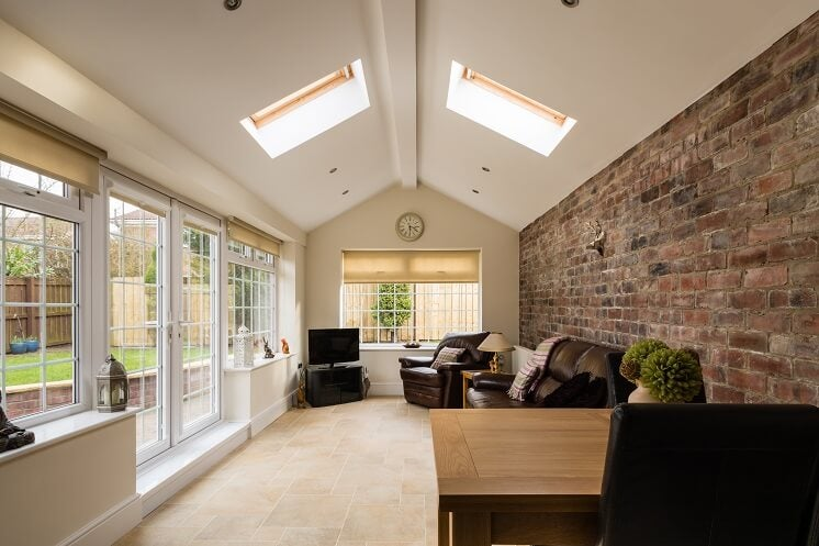 Solid tiled conservatory roof