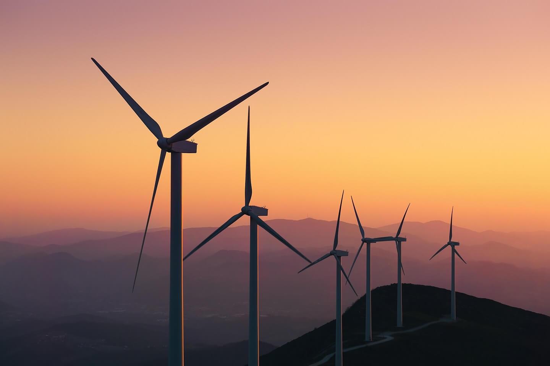 wind turbines on hills