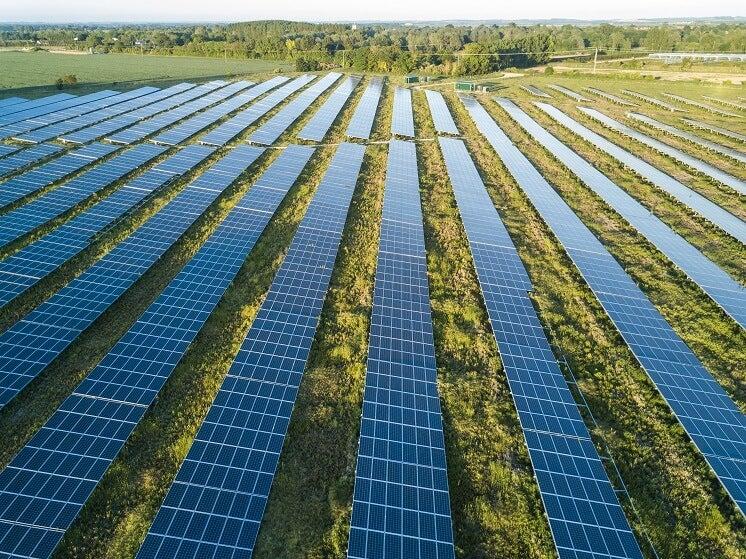 Solar panels in Cornish field